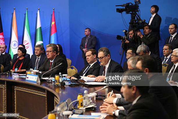 Meeting of the Council of Heads of Government of the Shanghai Cooperation Organisation member states in Astana Kazakhstan on December 15 2014