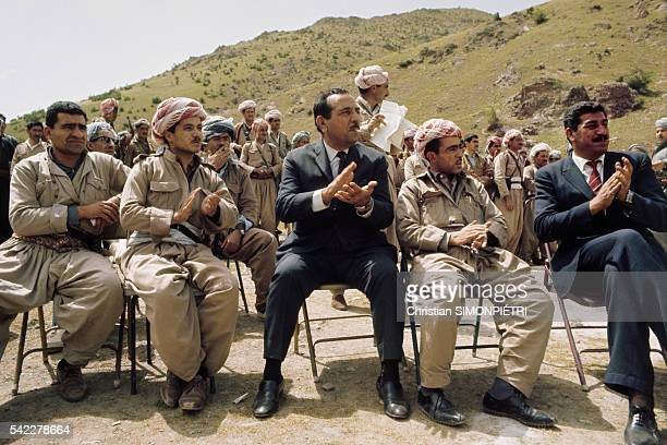 A meeting of the different Kurdish political parties Massoud Barzani is seated second from left