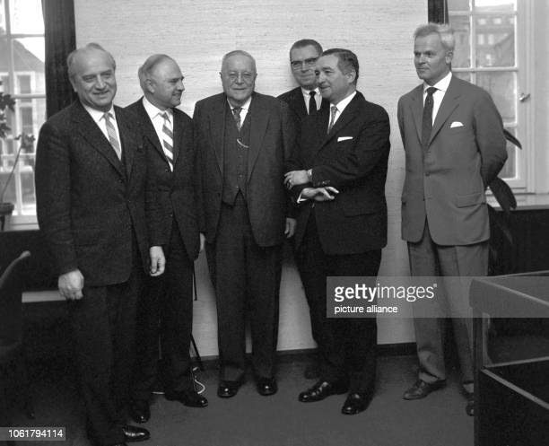 Meeting of the FDP of Baden-Wurttemberg during the traditional Dreikönigstreffen, a party conference of the FDP, on 6 January 1963 in Stuttgart. In...