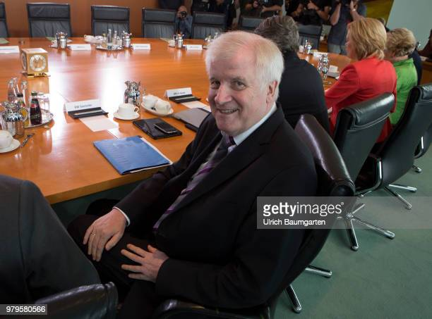 Meeting of the Federal Cabinet in the Federal Chancellery in BerlinHorst Seehofer Federal Minister of Interior at the Cabinet table