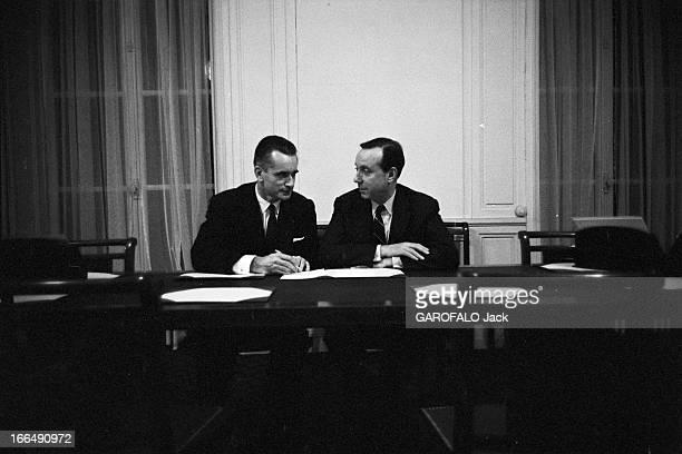 Meeting Of The Gaullist Majority For The Presidential Election Of December 19 1965 Paris 9 Décembre 1965 Au Palais Bourbon Salle Colbert lors de la...