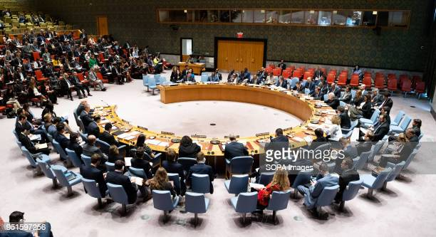 Meeting of the United Nations Security Council in New York City