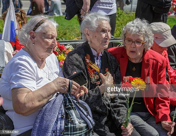 Meeting of World War II veterans on the Victory Day