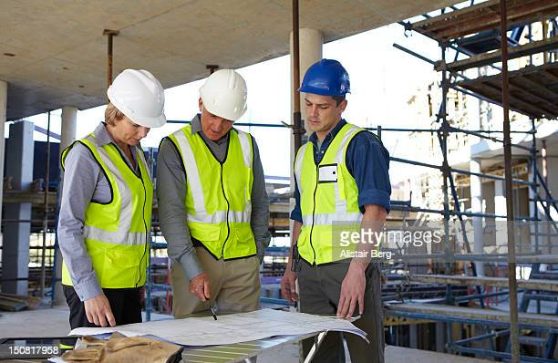 Meeting on a building site