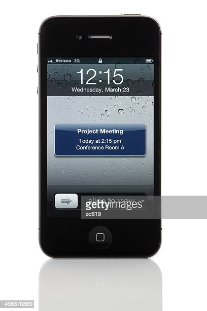 Meeting Reminder on Apple iPhone 4