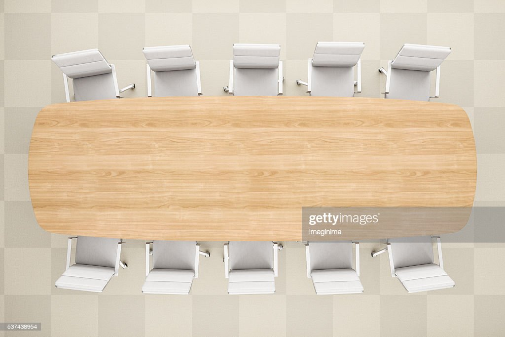 office table top view. Perfect View Meeting Table From Top View In Modern Office For