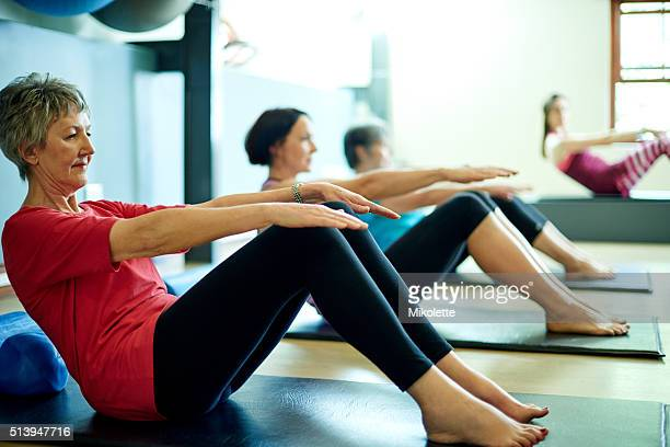 Meeting up at the mat for a pilates session