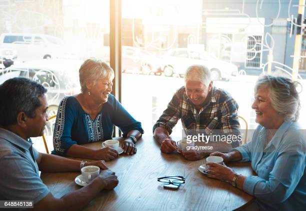 Meeting up for coffee