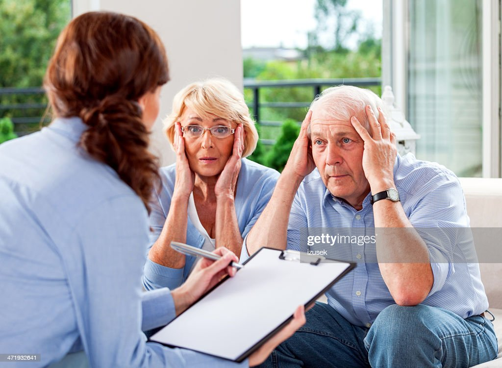 Meeting with insuracne agent : Stock Photo