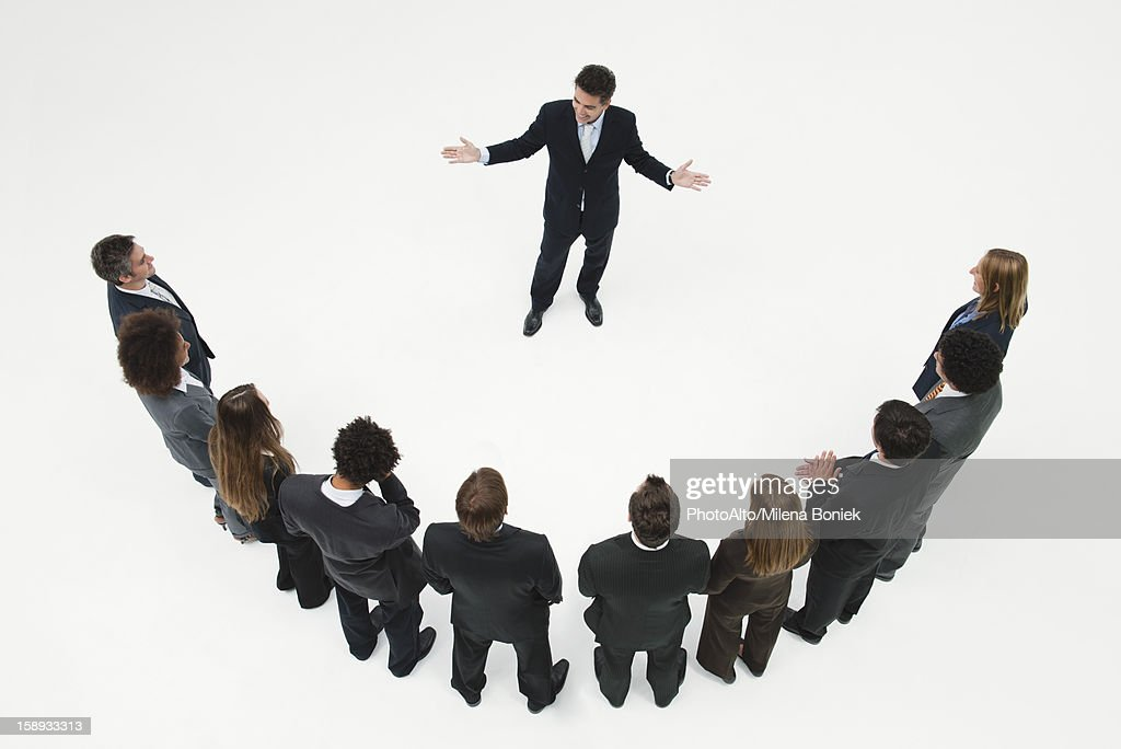 CEO meeting with team of business associates : Stock Photo