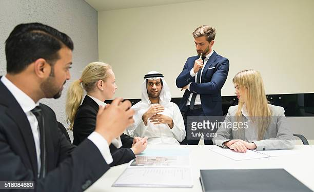 Meeting with the sheik