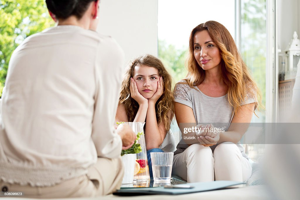 Meeting with therapist : Stock Photo