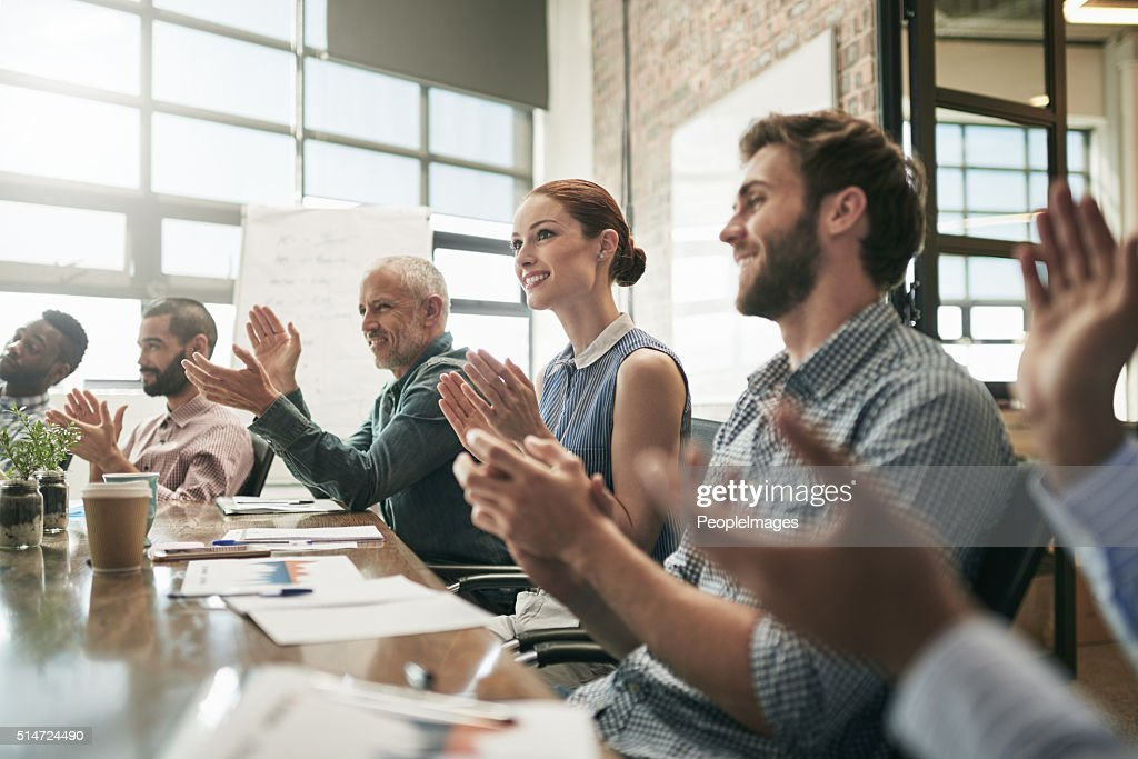 Meetings are empowering : Stock Photo