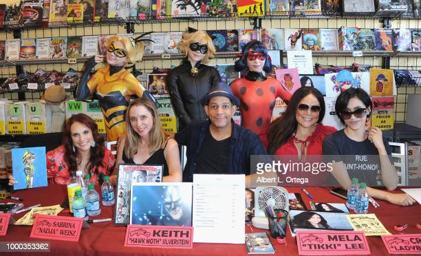 Actora Keith Silverstein Mela Lee and Cristina Vee sign autographs at The Miraculous Ladybug Toy And Comic Signing held at Golden Apple Comics on...