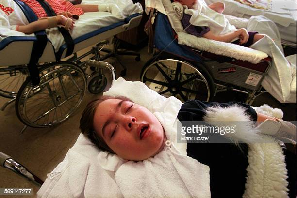 MEFairviewSleep052898MB–––Sleep and rest seem to be a big part of the routine in the residential unit where brain injured patients who suffered...