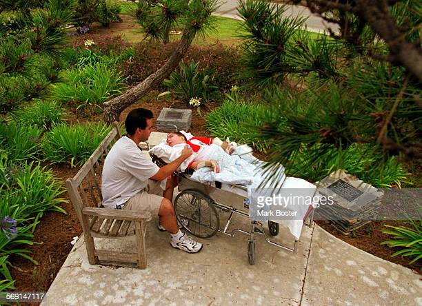 MEFairviewVisit060998MB–––Joe Pastorelle tries to visit his son Vinnie twice a month at the Fairview Developmental Center in Costa Mesa One of their...