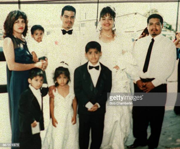MEFamily#108–23BC/BFamily killed Thursday in rear–end drunk driving accident in Compton at wedding of unidentified couple They are l to r clockwise...