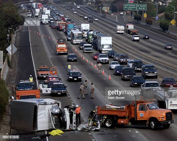 Fatal.Horz.112999.MB––Traffic heading southbound on the I–5 near Avenida Calafia Street in San Clemente was clogged for several hours monday morning...