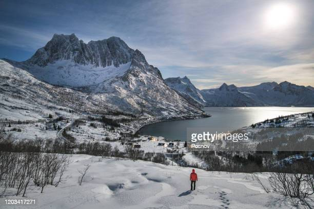 mefjordbotn - northern norway stock pictures, royalty-free photos & images