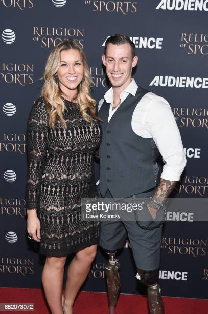 Meg and Joey Jones attend ATT Audience Network Celebrates the Religion of Sports at St Bart's Cathedral on November 3 2016 in New York Cit