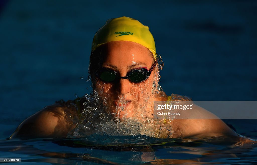 Meg Bailey of Australia trains at the Optus Aquatic Centre ahead of the 2018 Commonwealth Games on April 3, 2018 in Gold Coast, Australia.