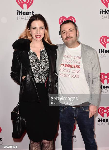 Meg Bashwiner and Joseph Fink attend the 2020 iHeartRadio Podcast Awards at the iHeartRadio Theater on January 17 2020 in Burbank California