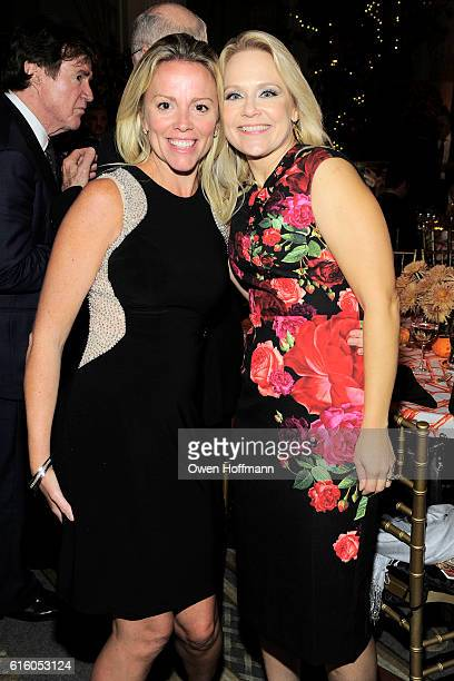 Meg Blainey and Liv Vesley attend An Evening Honoring Joe Namath at The Plaza Hotel on October 20 2016 in New York City