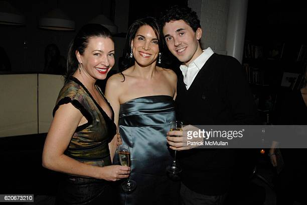 Meg Carlozzi Amy Erbesfeld and Matthew Pietras attend THE CINEMA SOCIETY and W host the after party for Sundance Channel's 'MARC JACOBS LOUIS...