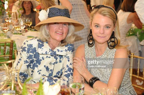 Meg Claghorn and Debbie Bancroft attend 36th Annual Frederick Law Olmsted Awards Luncheon Central Park Conservancy at The Conservatory Garden in...
