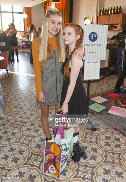 Meg Donnelly and Francesca Capald attend Girl Guild Debuts with a Strong Mission and Support of Young Influencers at Palihouse West Hollywood on...