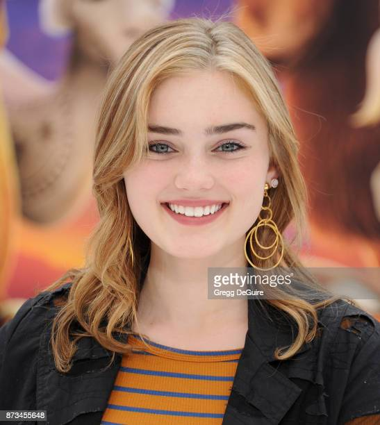 Meg Donnelly arrives at the premiere of Columbia Pictures' The Star at Regency Village Theatre on November 12 2017 in Westwood California