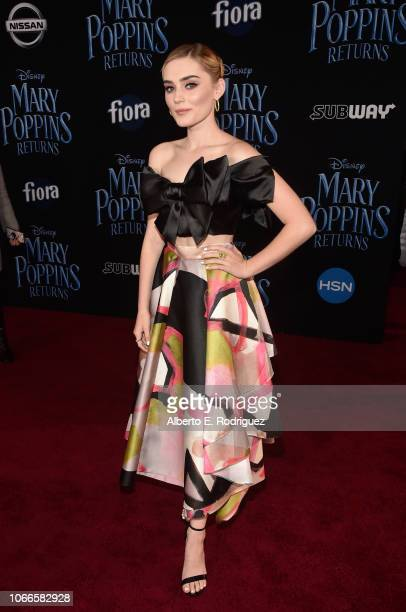 Meg Donnelly attends Disney's 'Mary Poppins Returns' World Premiere at the Dolby Theatre on November 29 2018 in Hollywood California