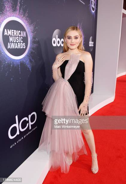 Meg Donnelly attends the 2019 American Music Awards at Microsoft Theater on November 24 2019 in Los Angeles California