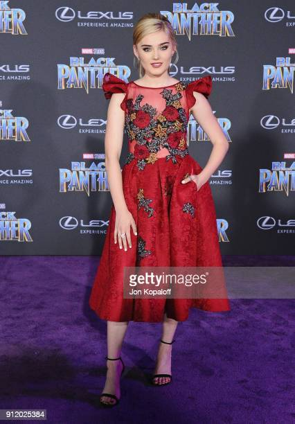 Meg Donnelly attends the Los Angeles Premiere 'Black Panther' at Dolby Theatre on January 29 2018 in Hollywood California