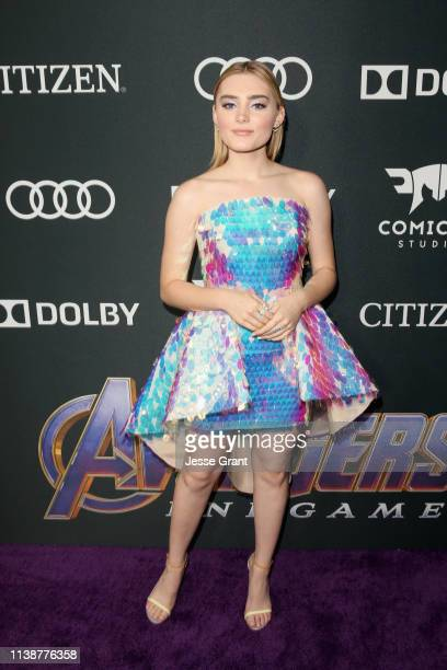 Meg Donnelly attends the Los Angeles World Premiere of Marvel Studios' Avengers Endgame at the Los Angeles Convention Center on April 23 2019 in Los...