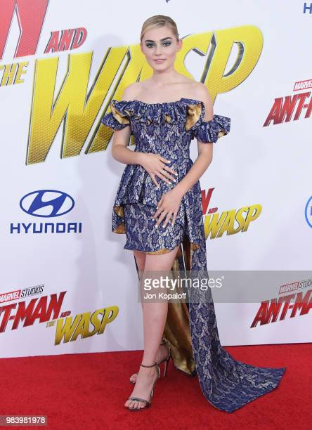 Meg Donnelly attends the premiere of Disney And Marvel's 'AntMan And The Wasp' at the El Capitan Theater on June 25 2018 in Hollywood California