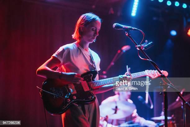 Meg Duffy of Hand Habits performs at Saturn Birmingham on April 16 2018 in Birmingham Alabama