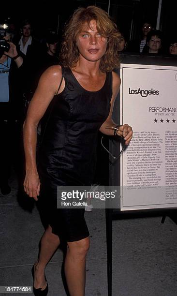 Meg Foster attends the performance of Love Letters on July 24 1990 at the Canon Theater in Beverly Hills California