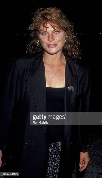 Meg Foster attends the screening party for Poetry In Motion on June 25 1989 at Comedy Store in West Hollywood California