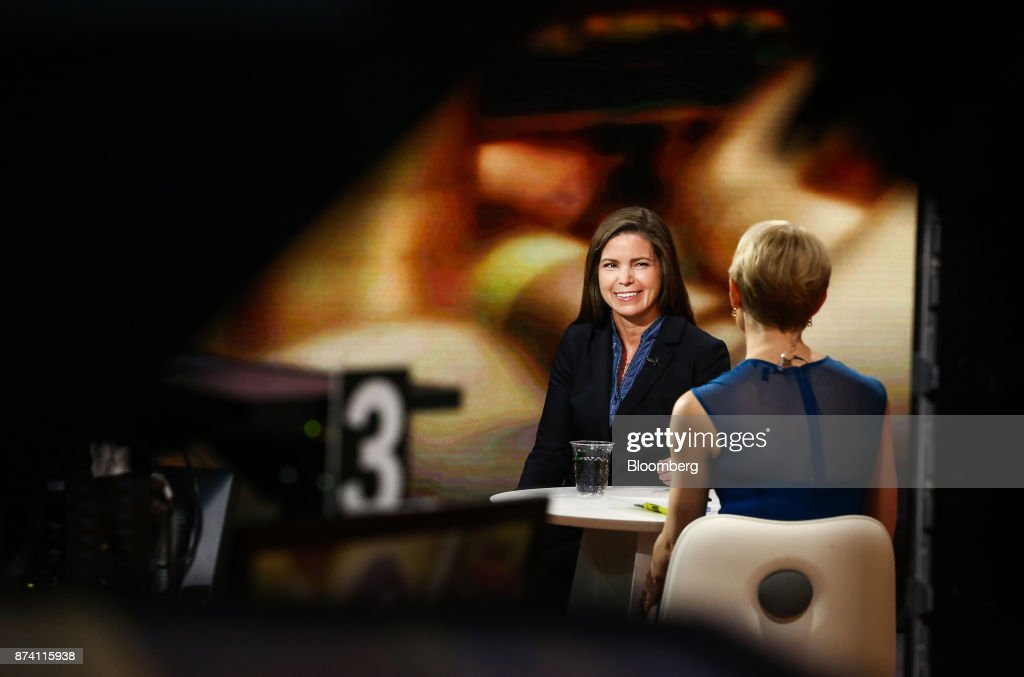 Meg Gentle, chief executive officer of Tellurian Investments Inc., smiles during a Bloomberg Television interview in New York, U.S., on Tuesday, Nov. 14, 2017. Gentle discussed the company's deal with Bechtel for the Driftwood LNG project. Photographer: Christopher Goodney/Bloomberg via Getty Images