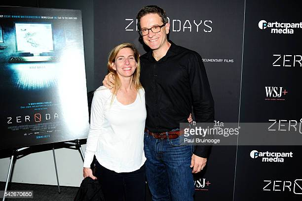 Meg Jacobs Julian E Zelizer attend WSJ Presents the New York Premiere of ZERO DAYS at New York Institute of Technology on June 23 2016 in New York...