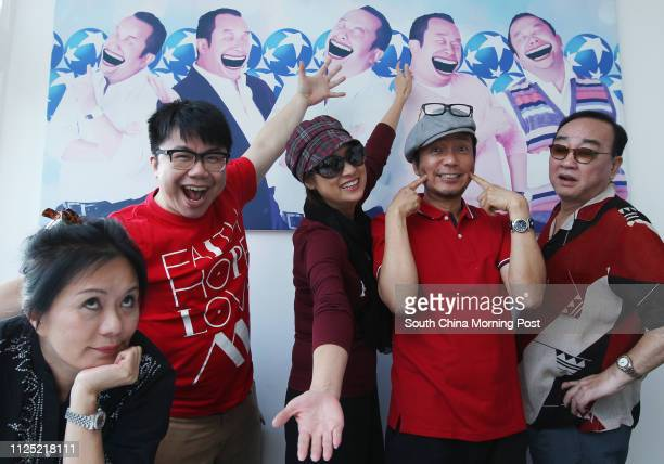 Meg Lam Kinming Hanjin Tan Chik Meichun Louie Castro and Lo Hoipang who are cast members of Shrimp Crazy Family stage show ǃˆv—v® reunion of the...