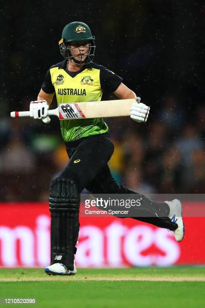 Meg Lanning of Australia bats during the ICC Women's T20 Cricket World Cup Semi Final match between Australia and South Africa at Sydney Cricket...