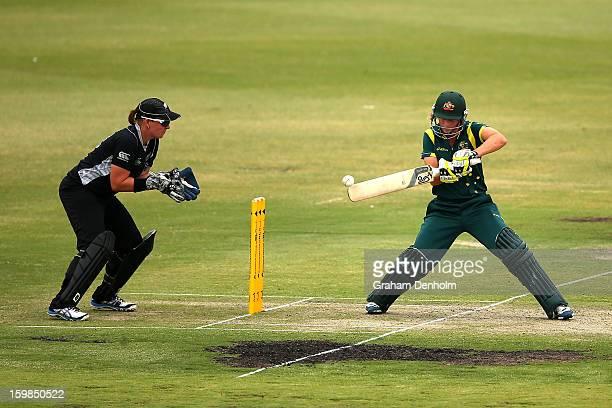 Meg Lanning of Australia bats during the Women's International Twenty20 match between the Australian Southern Stars and New Zealand at Junction Oval...