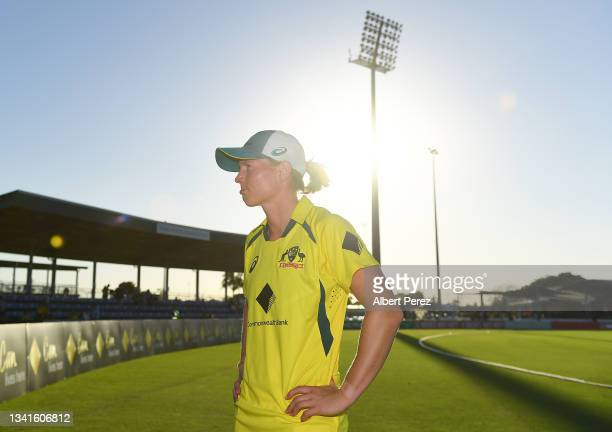 Meg Lanning of Australia is seen after her team's victory during game one of the Women's One Day International series between Australia and India at...