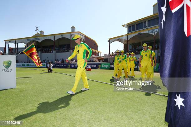 Meg Lanning of Australia leads the team out during game two of the International Women's One Day International Series between Australia and Sri Lanka...