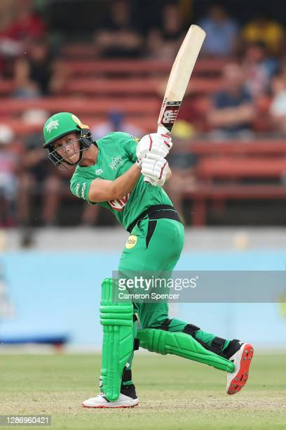 Meg Lanning of the Stars bats during the Women's Big Bash League WBBL match between the Melbourne Stars and the Sydney Sixers at North Sydney Oval,...