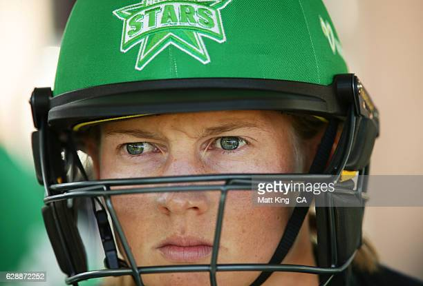 'SYDNEY AUSTRALIA DECEMBER 10 Meg Lanning of the Stars prepares to bat during the Women's Big Bash League match between the Sydney Thunder and the...