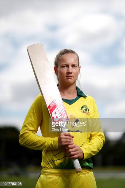 Meg Lanning poses after the Australian T20 cricket squad announcement at Allan Border Field on October 9 2018 in Brisbane Australia