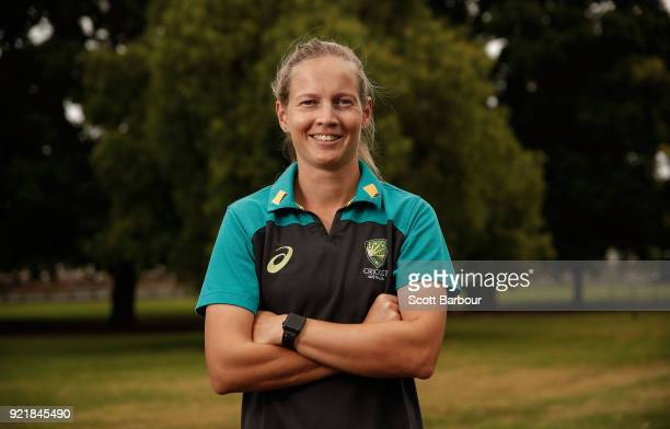 Meg Lanning poses during a Cricket Australia media opportunity at the Melbourne Cricket Ground on February 21 2018 in Melbourne Australia Australia...
